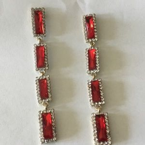 Jewelry - Red Crystal Earrings